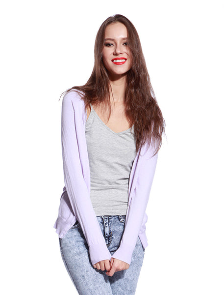 Pink Knitted Cardigan - Anladia - 1