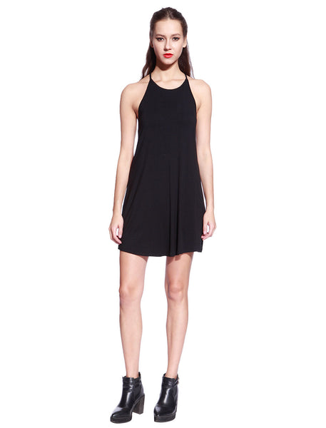 Black Ladder Back Dress - Anladia - 5