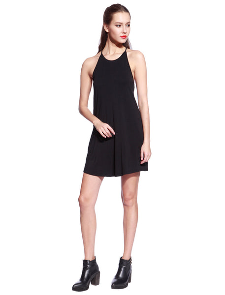 Black Ladder Back Dress - Anladia - 6