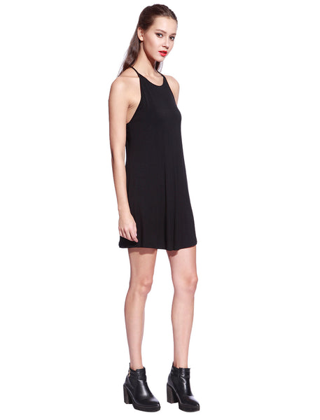 Black Ladder Back Dress - Anladia - 4