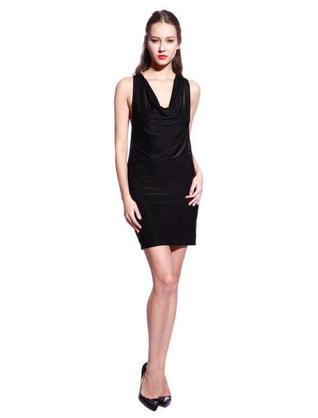 Black Chain Bodycon Dress - Anladia - 5