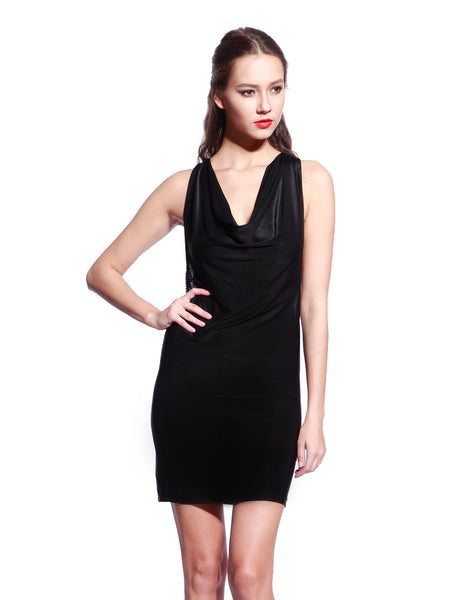 Black Chain Bodycon Dress - Anladia - 3