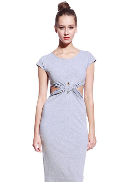 Grey Tyra Dress - Anladia - 2