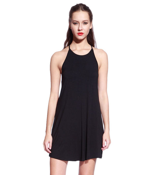 Black Ladder Back Dress - Anladia - 7