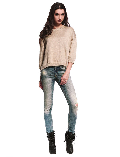 Sienna Distressed & Ripped Skinny Jeans - Anladia - 2
