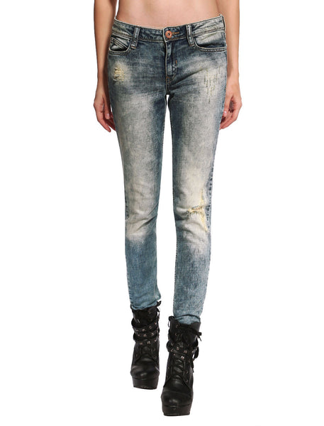 Sienna Distressed & Ripped Skinny Jeans - Anladia - 1