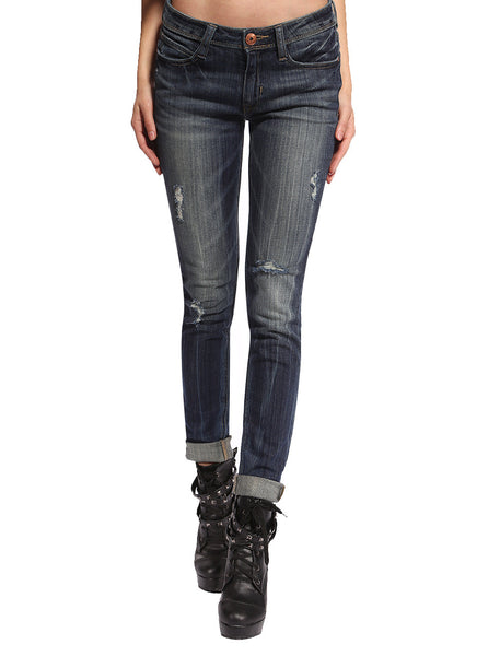 Dana Distressed & Ripped Skinny Jeans - Anladia - 1