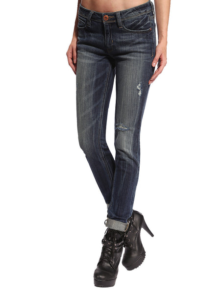 Dana Distressed & Ripped Skinny Jeans - Anladia - 2