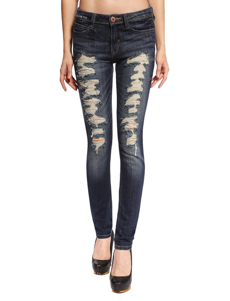Hailey Distressed & Ripped Skinny Jeans - Anladia - 1
