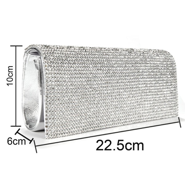 Shimmery Evening Clutch Bag - Anladia - 7