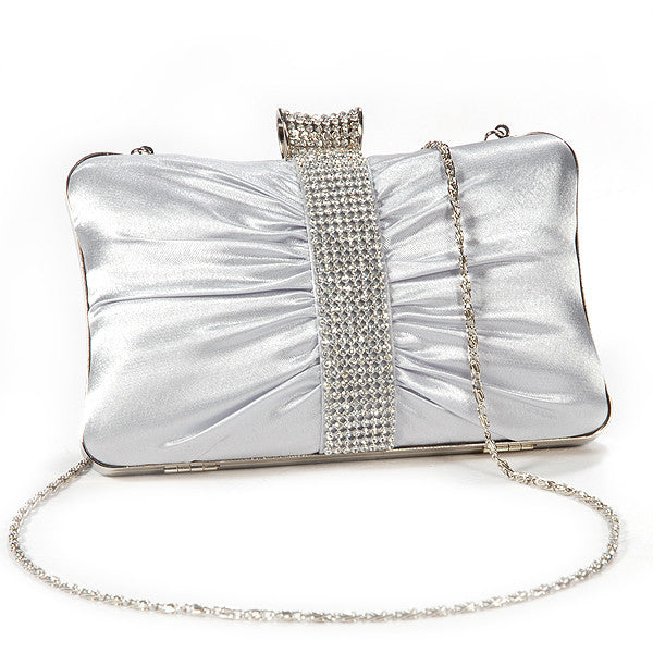 Girly Satin Clutch Bag - Anladia - 8