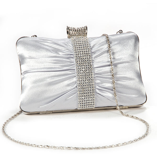 Girly Satin Clutch Bag - Anladia - 2