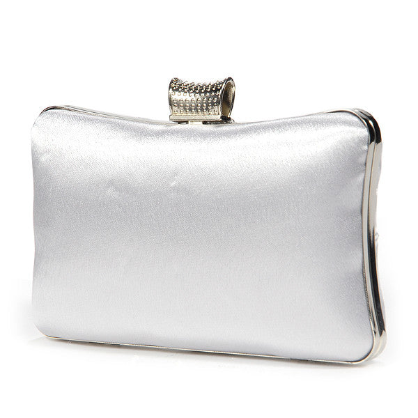 Girly Satin Clutch Bag - Anladia - 3