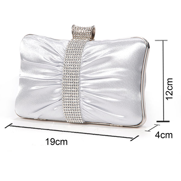 Girly Satin Clutch Bag - Anladia - 7