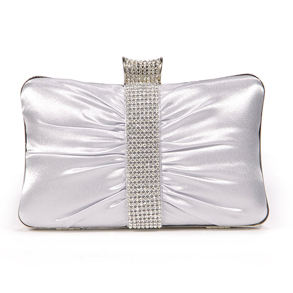 Girly Satin Clutch Bag - Anladia - 1