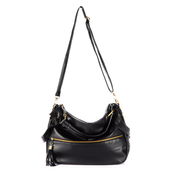 Tassel Leather Shoulder Bag - Anladia - 1