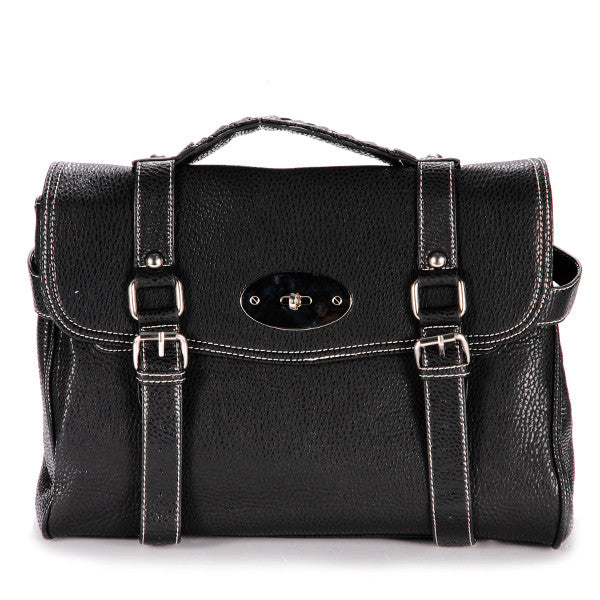 Classic Leather Satchel Bag - Anladia - 1