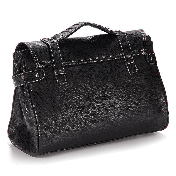 Classic Leather Satchel Bag - Anladia - 3