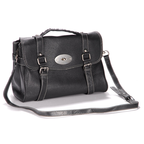 Classic Leather Satchel Bag - Anladia - 4