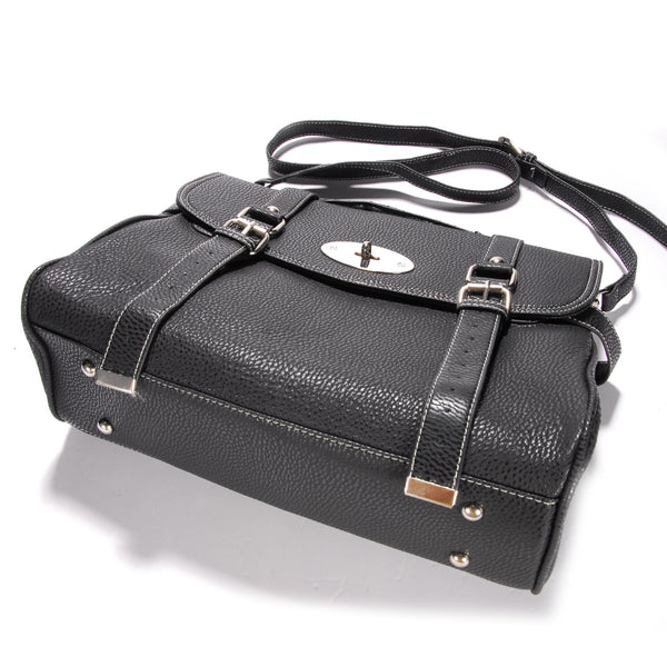 Classic Leather Satchel Bag - Anladia - 5