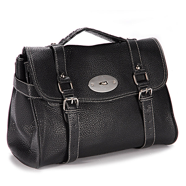 Classic Leather Satchel Bag - Anladia - 2