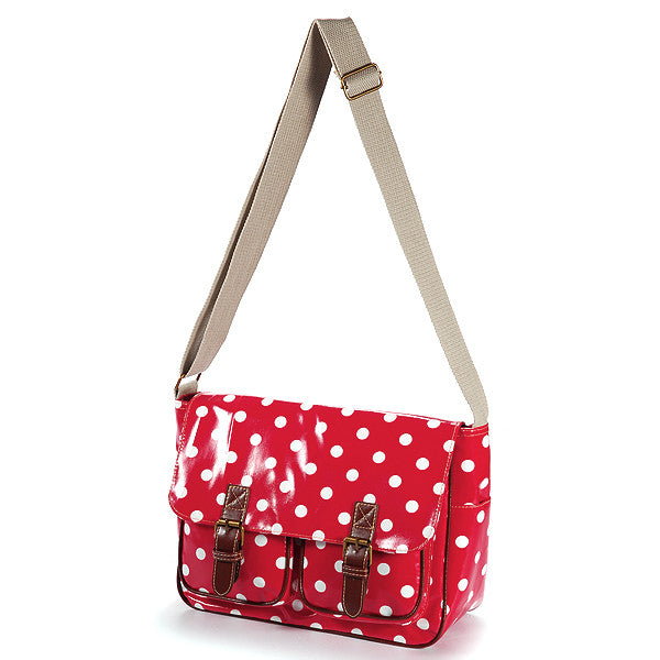 Red Oilcloth Satchel Bag - Anladia - 2