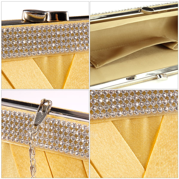 Mini Diamante Clutch Bag - Anladia - 6