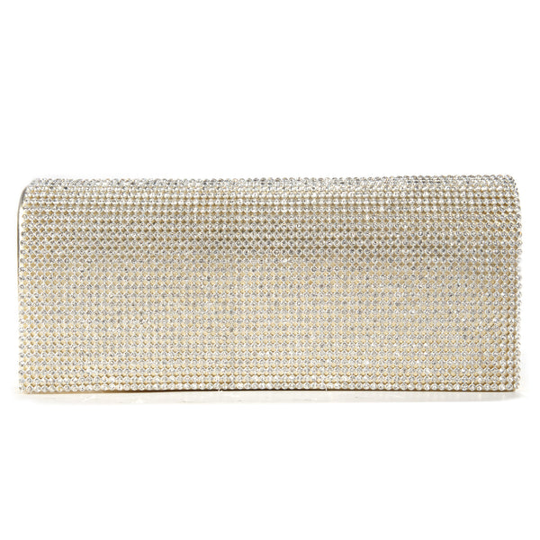 Shimmering Diamante Clutch Bag - Anladia - 1