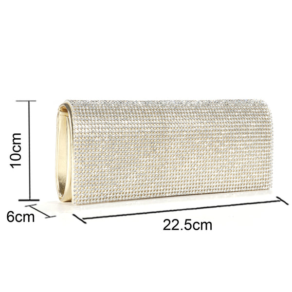 Shimmering Diamante Clutch Bag - Anladia - 7