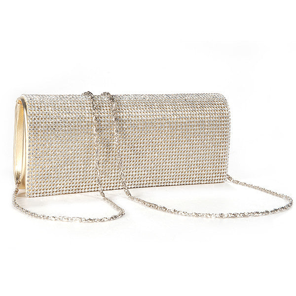 Shimmering Diamante Clutch Bag - Anladia - 2