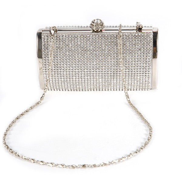 Diamante Box Clutch Bag - Anladia - 1