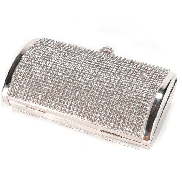 Diamante Box Clutch Bag - Anladia - 3