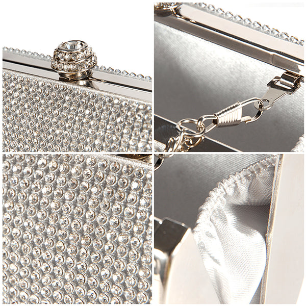 Diamante Box Clutch Bag - Anladia - 6