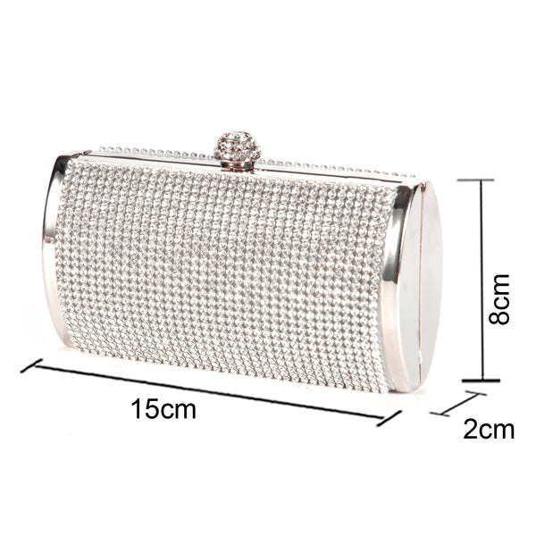 Diamante Box Clutch Bag - Anladia - 7
