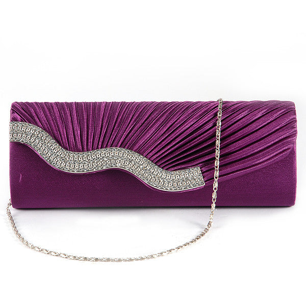 Pleated Party Clutch Bag - Anladia - 11
