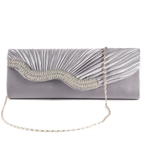 Pleated Party Clutch Bag - Anladia - 1