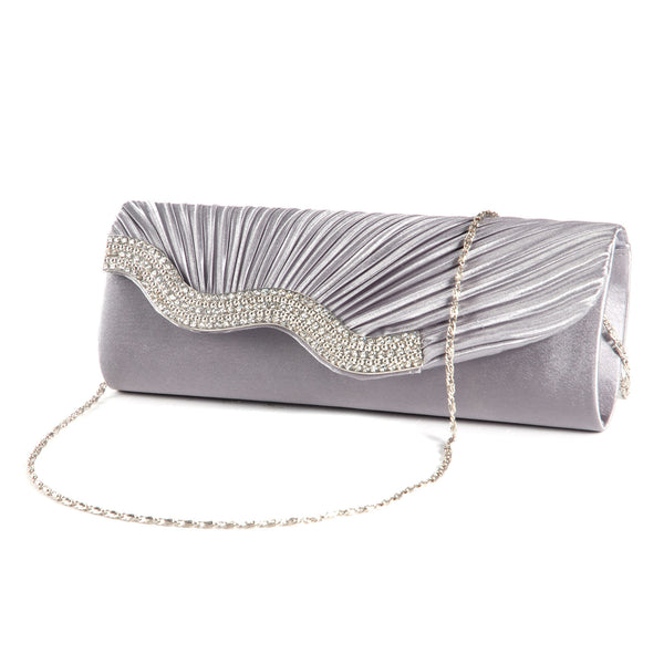 Pleated Party Clutch Bag - Anladia - 5