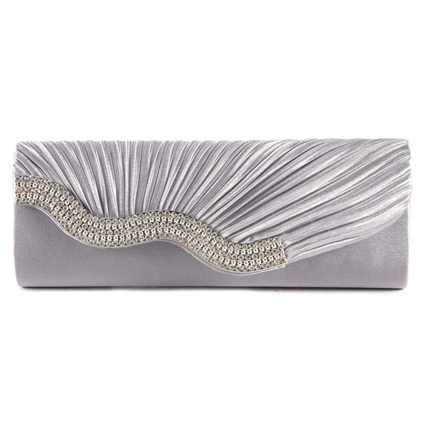 Pleated Party Clutch Bag - Anladia - 2