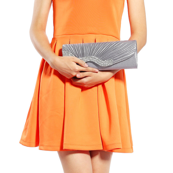 Pleated Party Clutch Bag - Anladia - 6