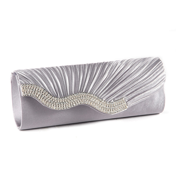 Pleated Party Clutch Bag - Anladia - 3
