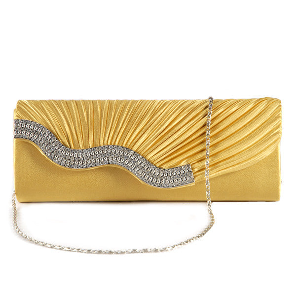Pleated Party Clutch Bag - Anladia - 9
