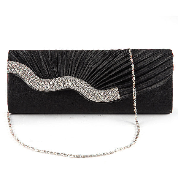 Pleated Party Clutch Bag - Anladia - 10
