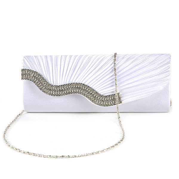 Pleated Party Clutch Bag - Anladia - 12