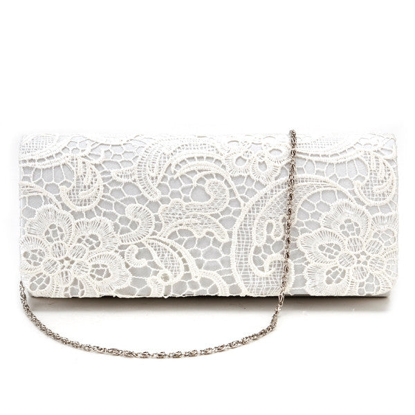 Lace Floral Clutch Bag - Anladia - 1
