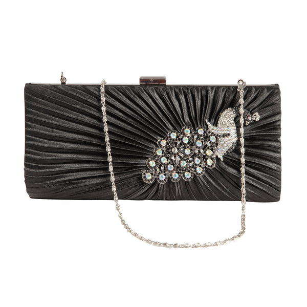 Crystal Peacock Clutch Bag - Anladia - 1