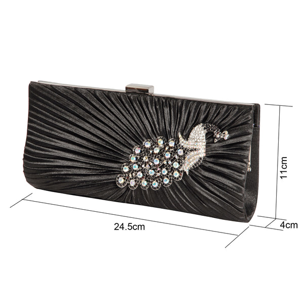 Crystal Peacock Clutch Bag - Anladia - 6