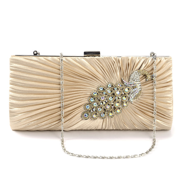 Crystal Peacock Clutch Bag - Anladia - 7