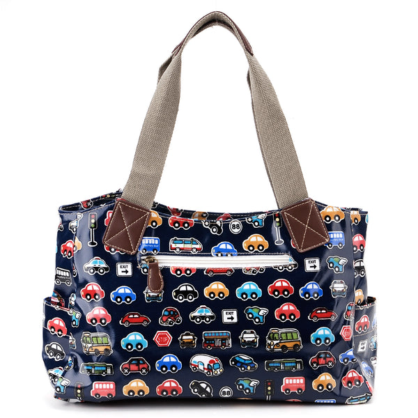 Blue Oilcloth Tote Bag - Anladia - 2