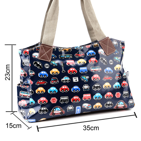 Blue Oilcloth Tote Bag - Anladia - 7