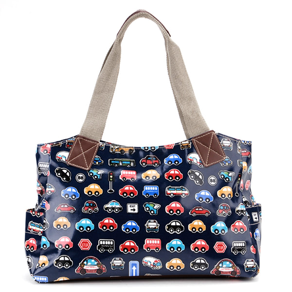 Blue Oilcloth Tote Bag - Anladia - 1